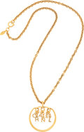 "Luxury Accessories:Accessories, Chanel Gold Chain & Charm Necklace. Very Good to ExcellentCondition . 13.5"" Length . ..."