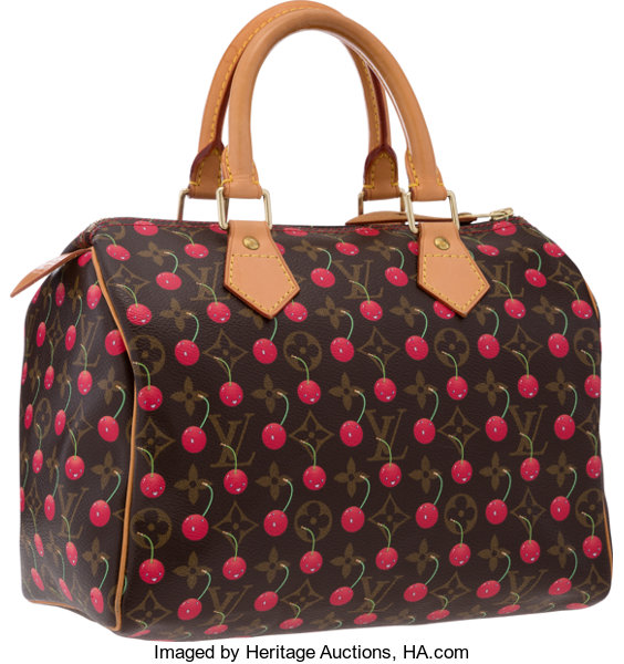 06018b54db43 Louis Vuitton Limited Edition Monogram Canvas Cerises Speedy 25 ...