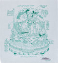 Animation Art:Production Drawing, Mike Royer Lady and the Tramp Snow Globe Figurine ConceptArt (Walt Disney, 1996)....