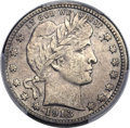 Barber Quarters, 1913-S 25C -- Cleaning -- PCGS Genuine. XF....
