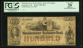 Obsoletes By State:Georgia, Columbus, GA- Manufacturers' and Mechanics' Bank $100 Sep. 26, 1854 G26a. ...