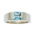 Estate Jewelry:Rings, Aquamarine, White Gold Ring, Cartier. ... (Total: 2 Items)