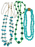 Estate Jewelry:Necklaces, Turquoise, Malachite, Gold Necklaces. ...