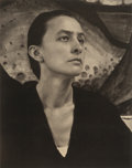 Photographs, ALFRED STIEGLITZ (American, 1864-1946). Georgia O'Keeffe: APortrait, 1918. Uncut Press Print, Published by Pace/Macgill...