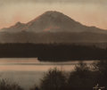 Photographs, ASAHEL CURTIS (American, 1874-1941). Dawn, 1911. Hand tinted gelatin silver. 14 x 17 inches (35.6 x 43.2 cm). Signed low...