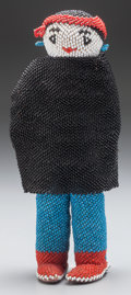 American Indian Art:Beadwork and Quillwork, A ZUNI BEADED MALE DOLL...
