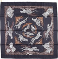 "Luxury Accessories:Accessories, Hermes 90cm Black & White ""Guepards,"" by Robert Dallet SilkScarf. Excellent Condition. 36"" Width x 36"" Length. ..."