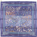 "Luxury Accessories:Accessories, Hermes 90cm Blue & Purple ""Libre Comme l'Air,"" by Annie FaivreSilk Scarf. Very Good to Excellent Condition. 36""Width..."