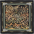 """Luxury Accessories:Accessories, Hermes 140cm Black """"Libres Comme l'Air,"""" by Annie Faivre Silk and Cashmere Scarf. Very Good Condition. 55"""" Width x 55""""..."""
