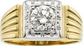 Estate Jewelry:Rings, Art Deco Gentleman's Diamond, Gold Ring. ...