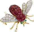 Estate Jewelry:Brooches - Pins, Ruby, Diamond, Emerald, Gold Brooch. ...