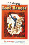 "Movie Posters:Western, The Lone Ranger (Warner Brothers, 1956). One Sheet (27"" X 41"").Western.. ..."