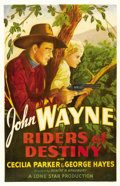 "Movie Posters:Western, Riders of Destiny (Monogram, 1933). One Sheet (27"" X 41""). ..."