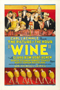 "Movie Posters:Drama, Wine (Universal, 1924). One Sheet (27"" X 41""). ..."