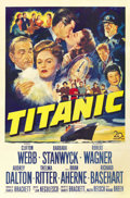 "Movie Posters:Action, Titanic (20th Century Fox, 1953). One Sheet (27"" X 41""). ..."