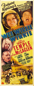 "Movie Posters:Adventure, Wee Willie Winkie (20th Century Fox, 1937). Insert (14"" X 36""). ..."