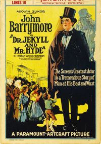 "Dr. Jekyll and Mr. Hyde (Paramount-Artcraft, 1920). Window Card (14"" X 20"")"