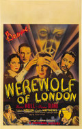 "Movie Posters:Horror, Werewolf of London (Universal, 1935). Window Card (14"" X 22"")...."