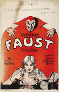 "Movie Posters:Fantasy, Faust (MGM, 1926). Window Card (14"" X 22""). ..."