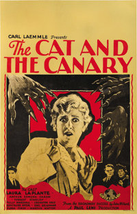 "The Cat and the Canary (Universal, 1927). Window Card (14"" X 22"")"