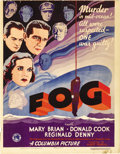 "Movie Posters:Mystery, Fog (Columbia, 1933). Window Card (14"" X 18""). ..."