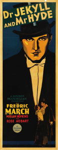 "Movie Posters:Horror, Dr. Jekyll and Mr. Hyde (Paramount, 1931). Insert (14"" X 36""). ..."