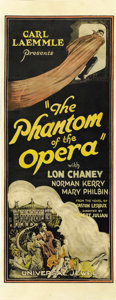 "Movie Posters:Horror, The Phantom of the Opera (Universal, 1925). Insert (14"" X 36""). ..."