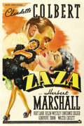 "Movie Posters:Drama, Zaza (Paramount, 1939). One Sheet (27"" X 41"") Style A. ..."