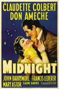 "Movie Posters:Comedy, Midnight (Paramount, 1939). One Sheet (27"" X 41"") Style A. ..."