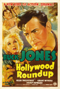 "Movie Posters:Western, Hollywood Roundup (Columbia, 1937). One Sheet (27"" X 41""). ..."