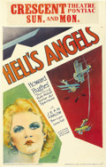 "Movie Posters:War, Hell's Angels (United Artists, 1930). Window Card (14"" X 22"")...."