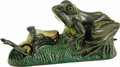 Antiques:Toys, Two Frogs Mechanical Bank...