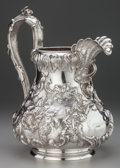 Silver Holloware, American:Pitchers, A VINCENT LAFORME & BROTHERS COIN SILVER WATER PITCHER, Boston,Massachusetts, circa 1835-1855. Marks: V. L. & B., PURECO...