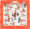 "Luxury Accessories:Accessories, Hermes 90cm ""Les Oiseaux du Roy,"" by Caty Latham Silk Scarf. Pristine Condition. 36"" Width x 36"" Length. ..."