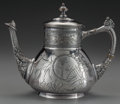 Silver Holloware, American:Coffee Pots, A PAIRPOINT AESTHETIC MOVEMENT SILVER-PLATED COFFEE POT, NewBedford, Massachusetts, circa 1880. Marks: PAIRPOINT MFG.CO....