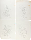 Animation Art:Production Drawing, Mickey Mouse and Friends Illustration Group (Walt Disney, c.1980s/90s).... (Total: 15 Original Art)