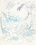 Animation Art:Production Drawing, Disney Character Jigsaw Puzzle Preliminary Concept Art by WillieIto (Walt Disney, c. 1980s/90s).... (Total: 7 Original Art)