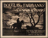 """The Mark of Zorro (United Artists, 1920). Title Lobby Card (11"""" X 14""""). Swashbuckler"""