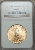 Modern Bullion Coins, 2008-W $50 One-Ounce Gold Eagle MS70 NGC. NGC Census: (0). PCGS Population (42)....