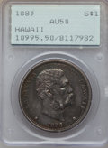 Coins of Hawaii: , 1883 $1 Hawaii Dollar AU50 PCGS. PCGS Population (65/202). NGCCensus: (30/184). Mintage: 500,000. ...