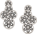 Estate Jewelry:Earrings, Colored Diamond, Diamond, White Gold Earrings, Eli Frei. ...