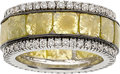 Estate Jewelry:Rings, Colored Diamond, Diamond, White Gold Eternity Band. ...