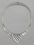 Silver Smalls:Other , A SIGI PINEDA SILVER NECKLACE, Taxco, Mexico, circa 1950. Marks:Sigi, TAXCO, (eagle-36), STERLING, 27, HECHO ENMEXIC...