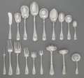 Silver & Vertu:Flatware, A ONE HUNDRED-AND-ONE PIECE SHREVE & CO. DOLORES PATTERN SILVER PARTIAL FLATWARE SERVICE, San Francisco, Califor... (Total: 110 )