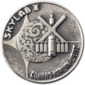 Explorers:Space Exploration, Skylab I (SL-2) Flown Silver Robbins Medallion, Serial Number F18, Originally from the Personal Collection of Astronaut Jack S...