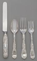 Silver Flatware, American:Tiffany, A FORTY PIECE TIFFANY & CO. CHRYSANTHEMUM PATTERN SILVERFLATWARE SERVICE, New York, New York, designed 1880. Ma... (Total:40 )