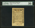 Colonial Notes:Rhode Island, Rhode Island May 1786 £3 PMG About Uncirculated 50 EPQ.. ...