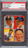 Baseball Cards:Singles (1930-1939), 1935 Goudey 4-In-1 Clark/Frey/Leslie/Stripp PSA NM 7 - None Higher....