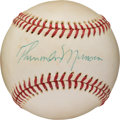 Autographs:Baseballs, 1976 Thurman Munson Single Signed Baseball....