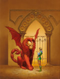 Pulp, Pulp-like, Digests, and Paperback Art, MICHAEL WHELAN (American, b. 1950). A Spell for Chameleon,paperback cover, 1977. Acrylic on board. 22.75 x 17 in.(sigh... (Total: 2 Items)